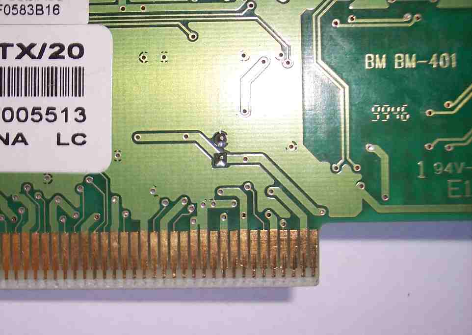 pci card slot - side a
