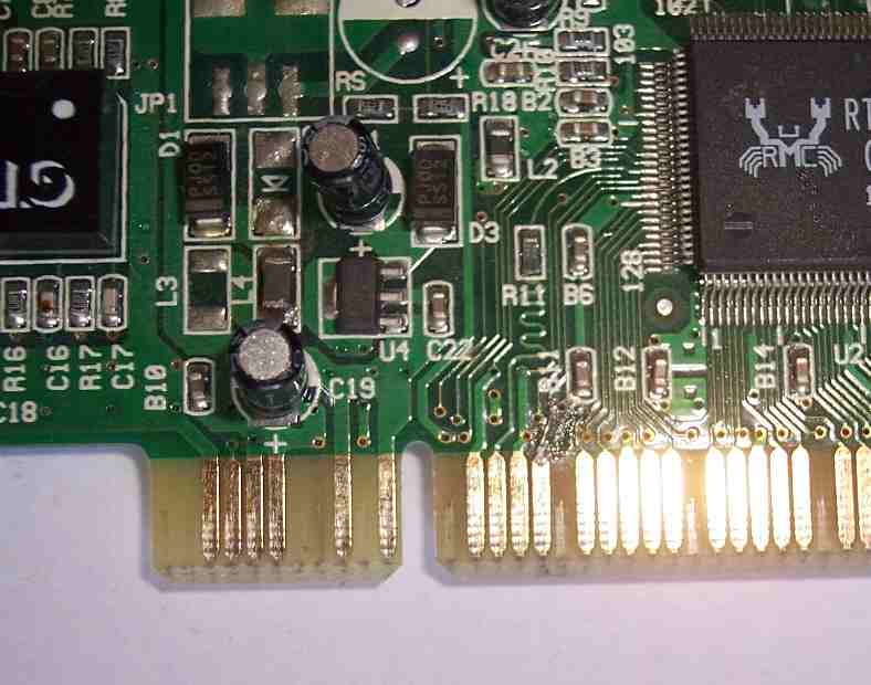 pci card slot - side b