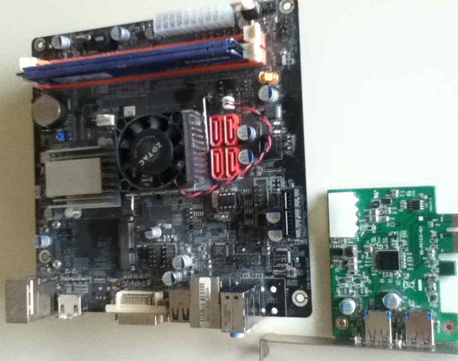 small desktop + PCI Express -x1 card